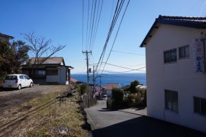 富戸駅周辺の高台からの風景