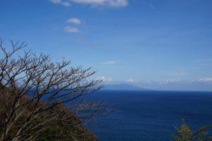 海沿いの道路からの景色