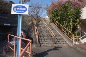 今井浜海岸駅の階段