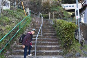 稲梓駅へ続く階段
